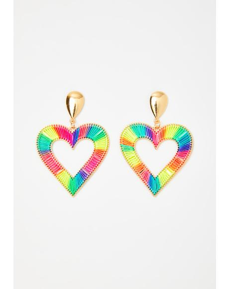 Thread Of Love Drop Earrings