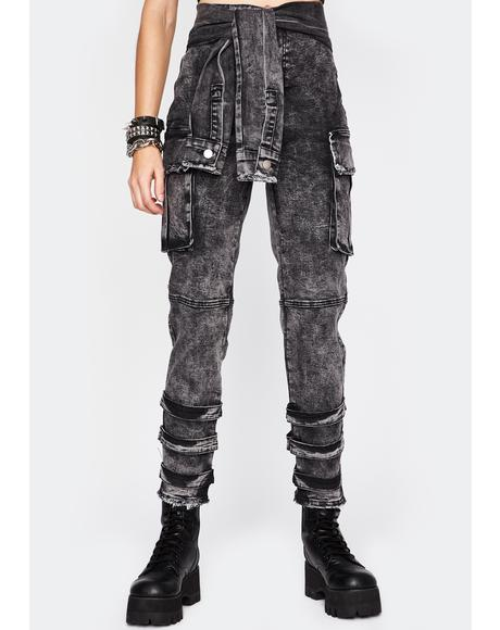 Dark Grunge Mix Cargo Pants