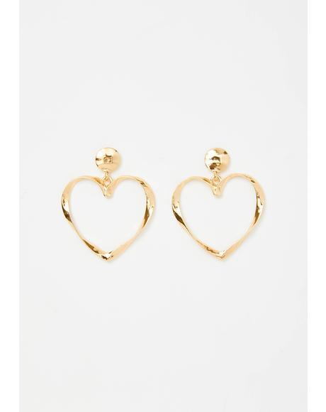 Luv Me Forever Heart Earrings