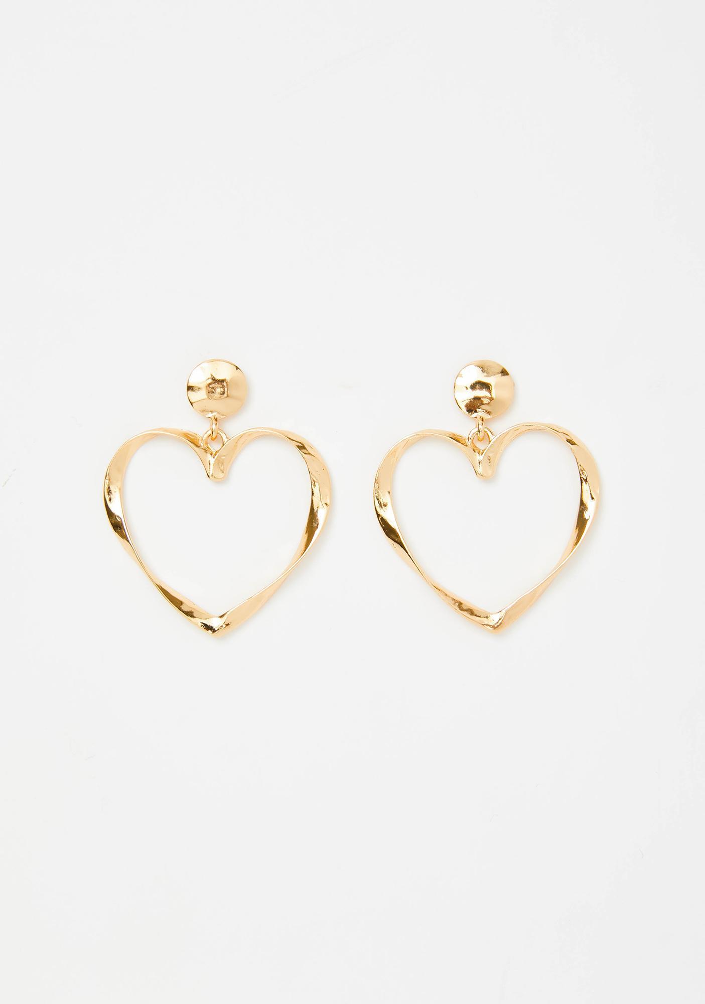 Luv Me Forever Heart Earrings