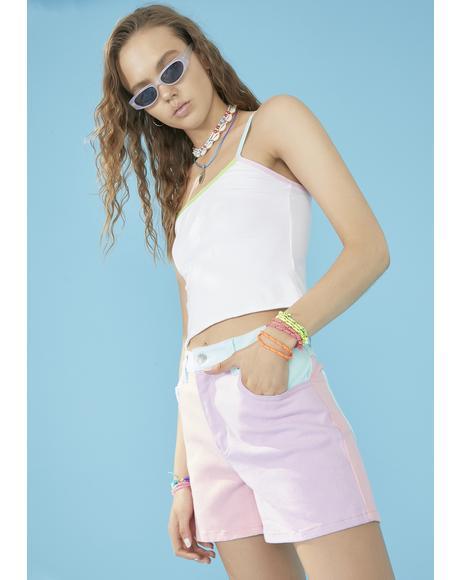 Pool Crush On U Colorblock Shorts