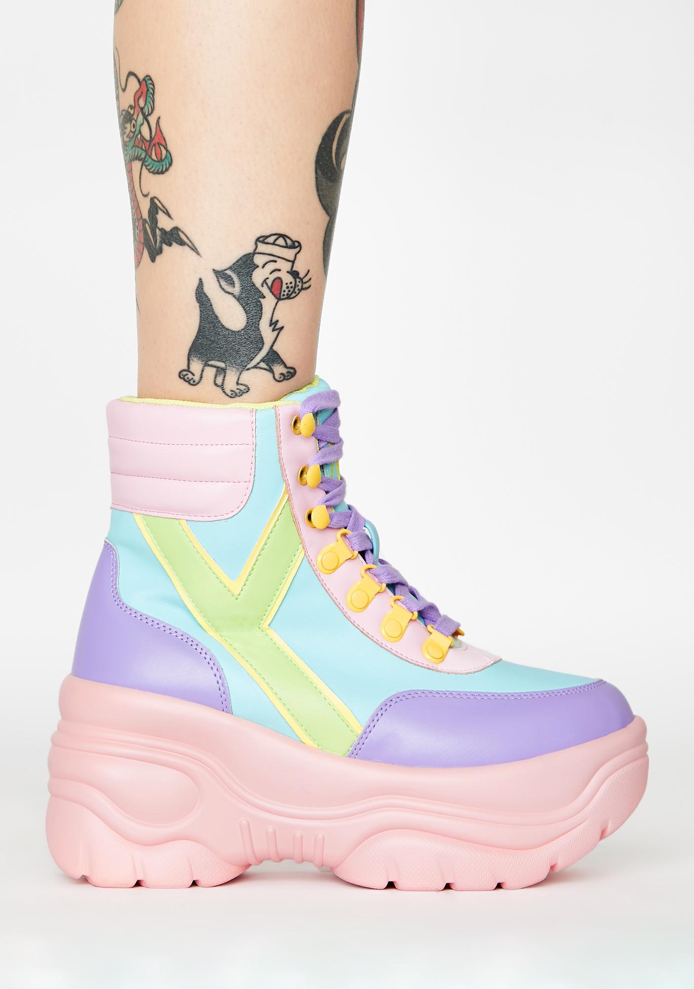 Y.R.U. Hi Matrixx 2 Pastel Platform Sneakers