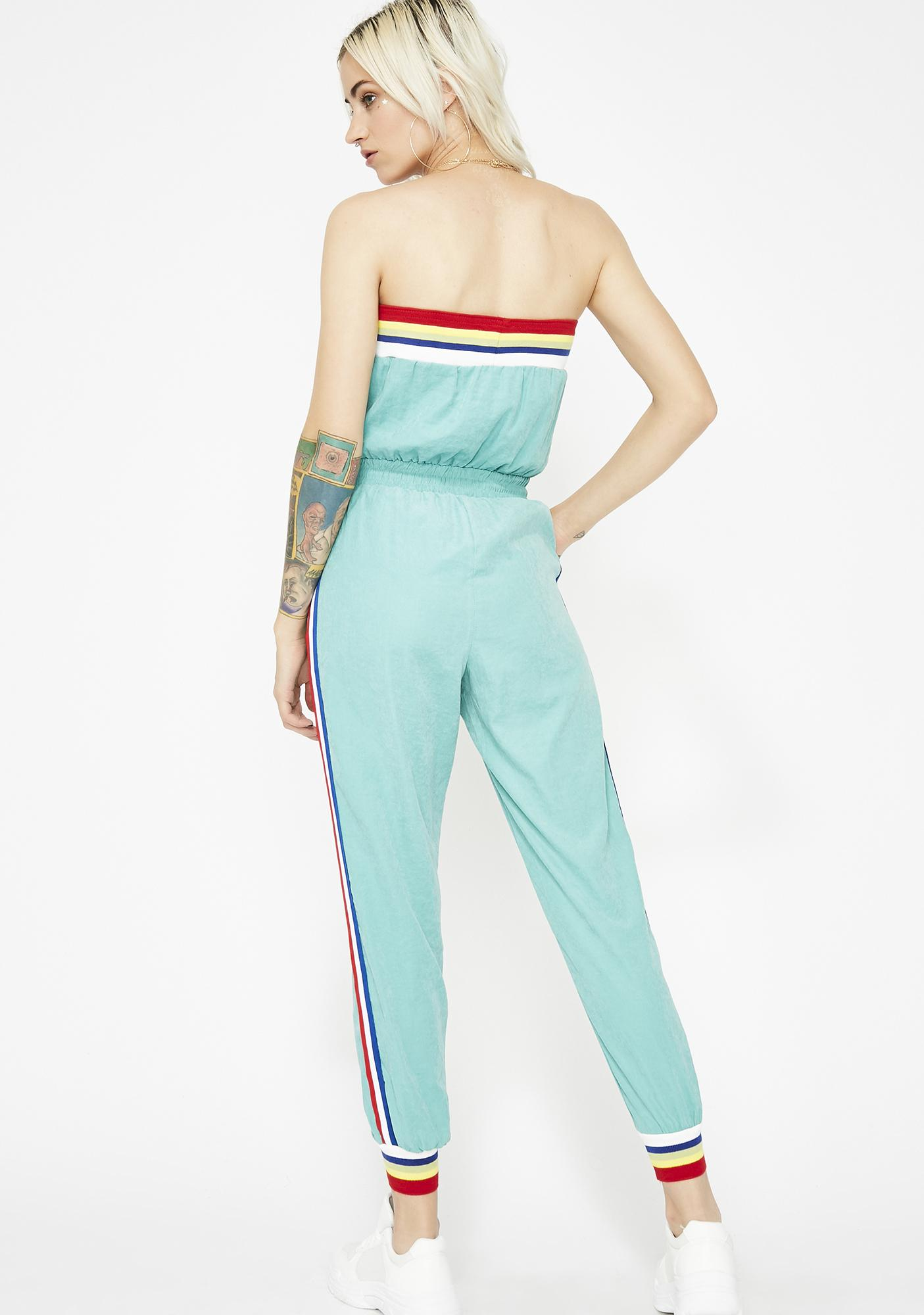 Happy Thoughts Rainbow Trim Jumpsuit
