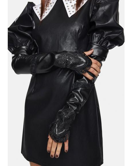 Dark Desire Vegan Leather Gloves