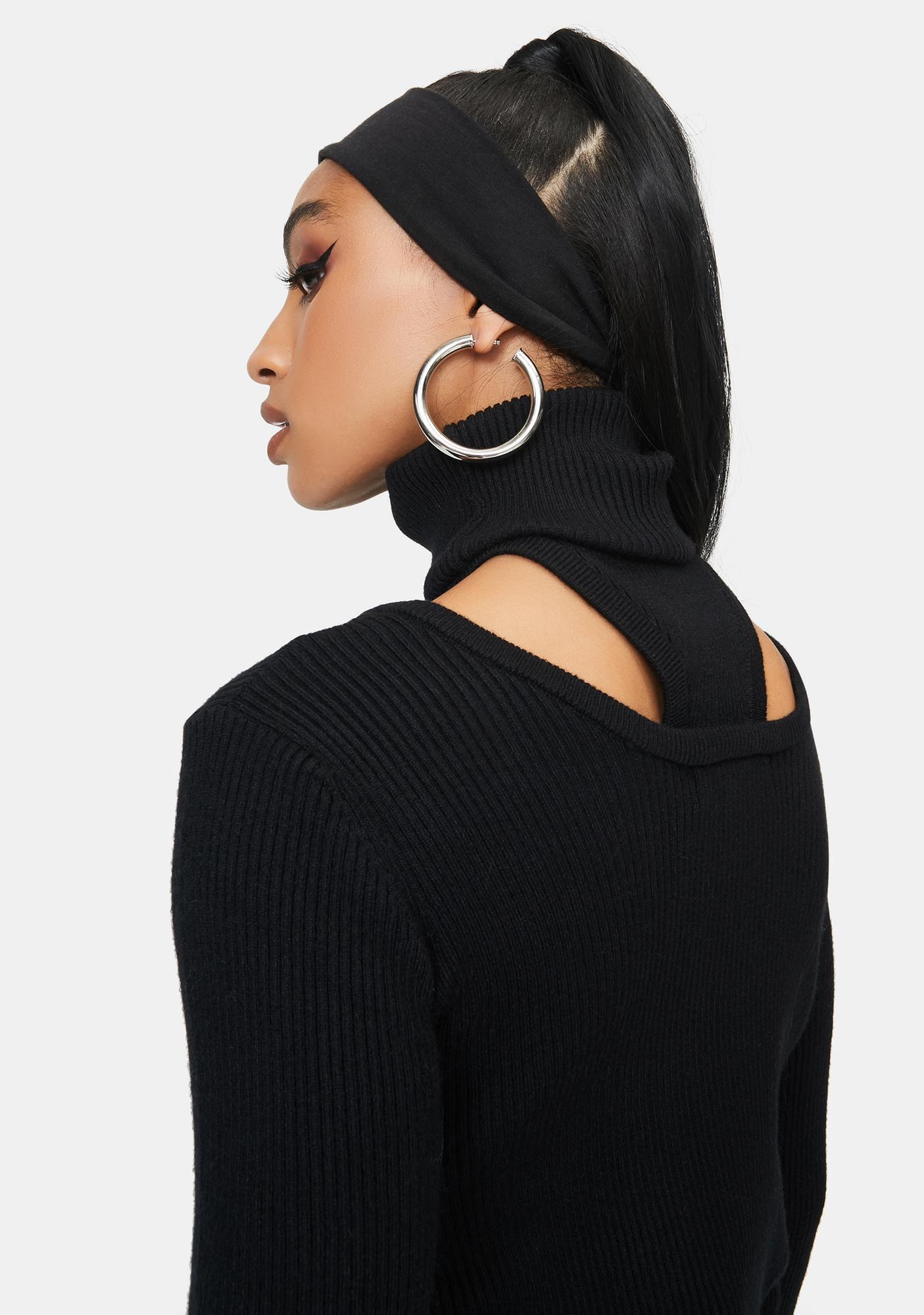 THE KRIPT Black Safety Mask Sweater
