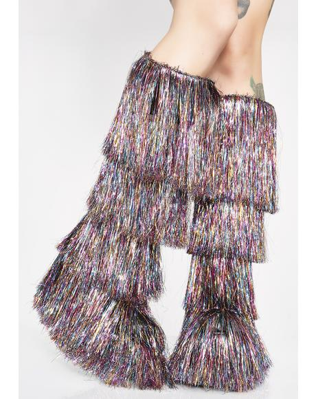 Cascading Dreams Tinsel Boots