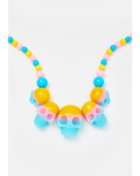 Skull Collection Beaded Necklace