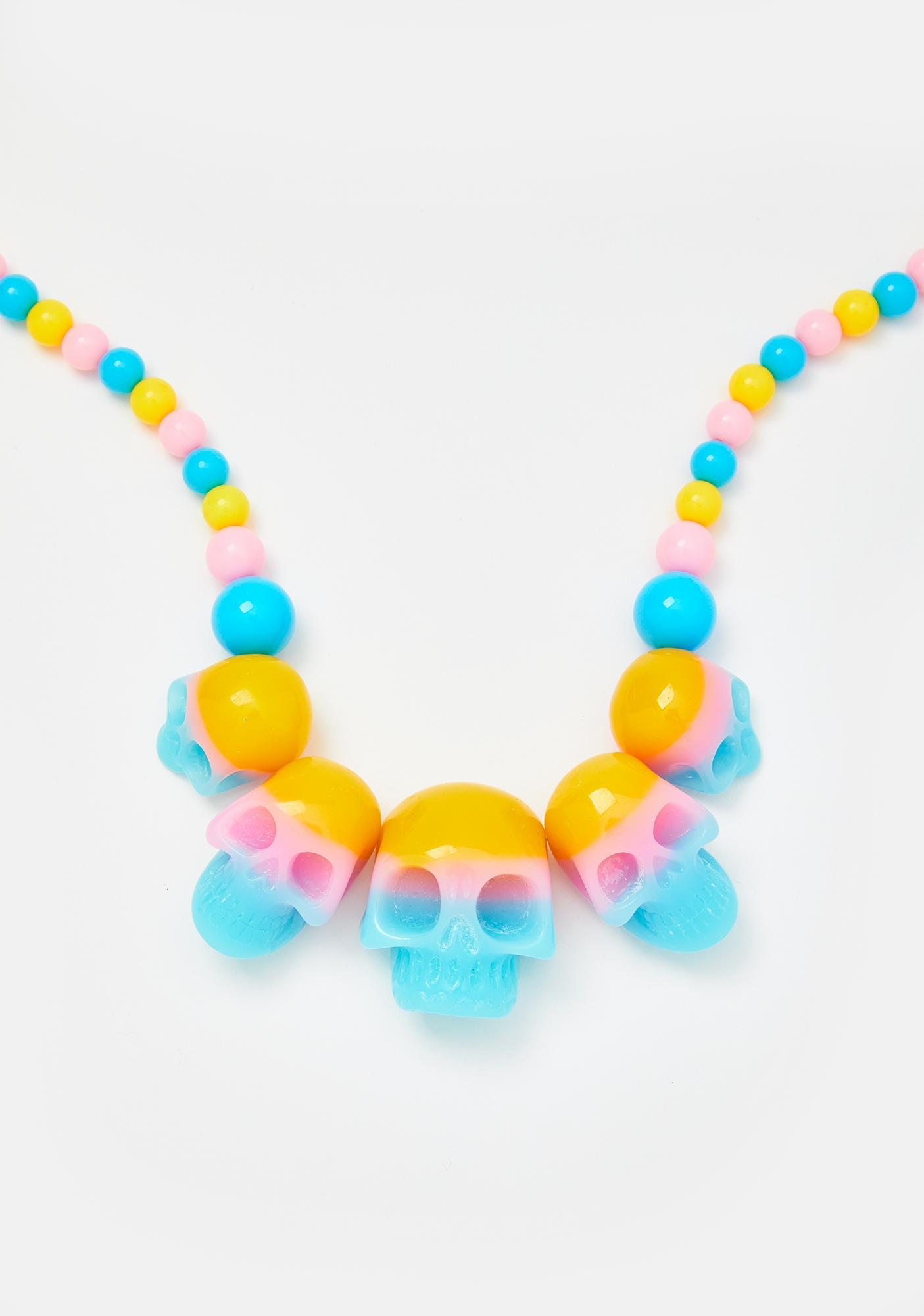 Kreepsville 666 Skull Collection Beaded Necklace