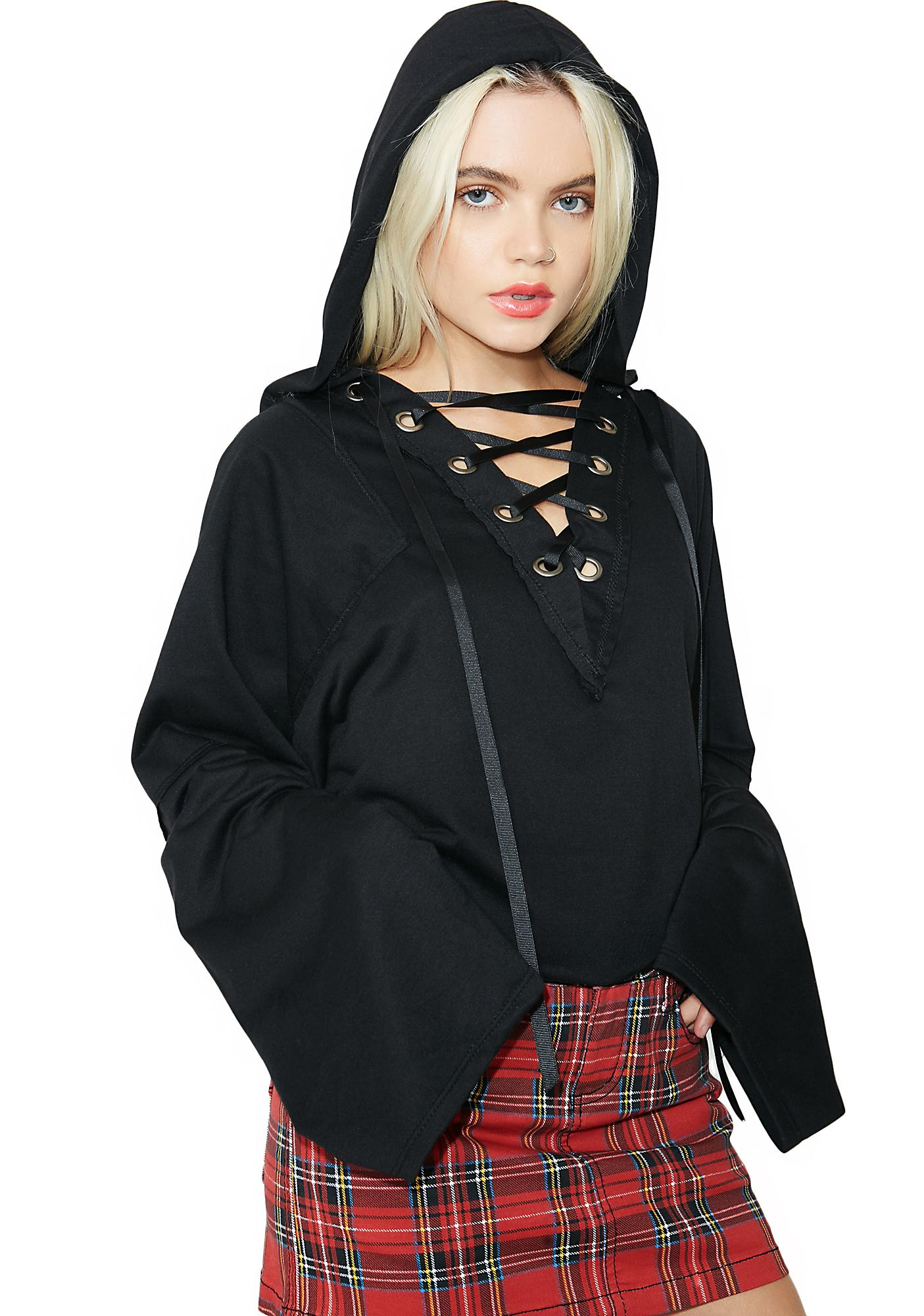 Late Nights Lace-Up Hoodie