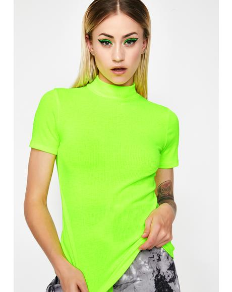 Atomic Shock Mock Neck Top