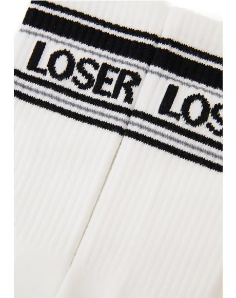 Loser Athletic Crew Socks