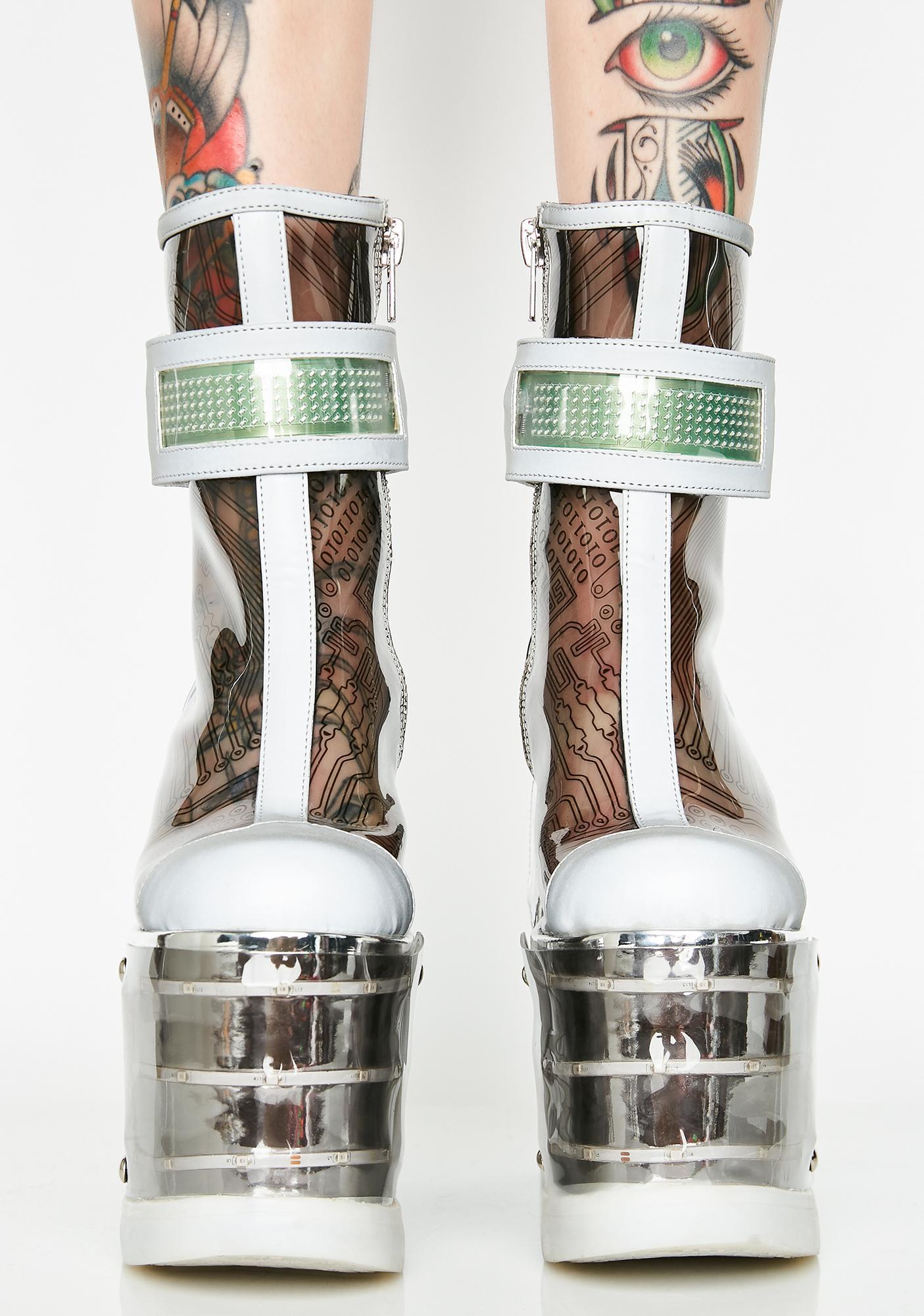 Club Exx Motherboard Light-Up Platform Boots