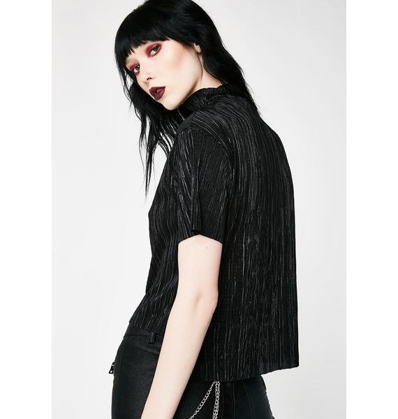 Disturbia Pleat Crop Top