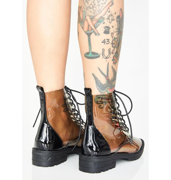 Clear Views Lace Up Boots