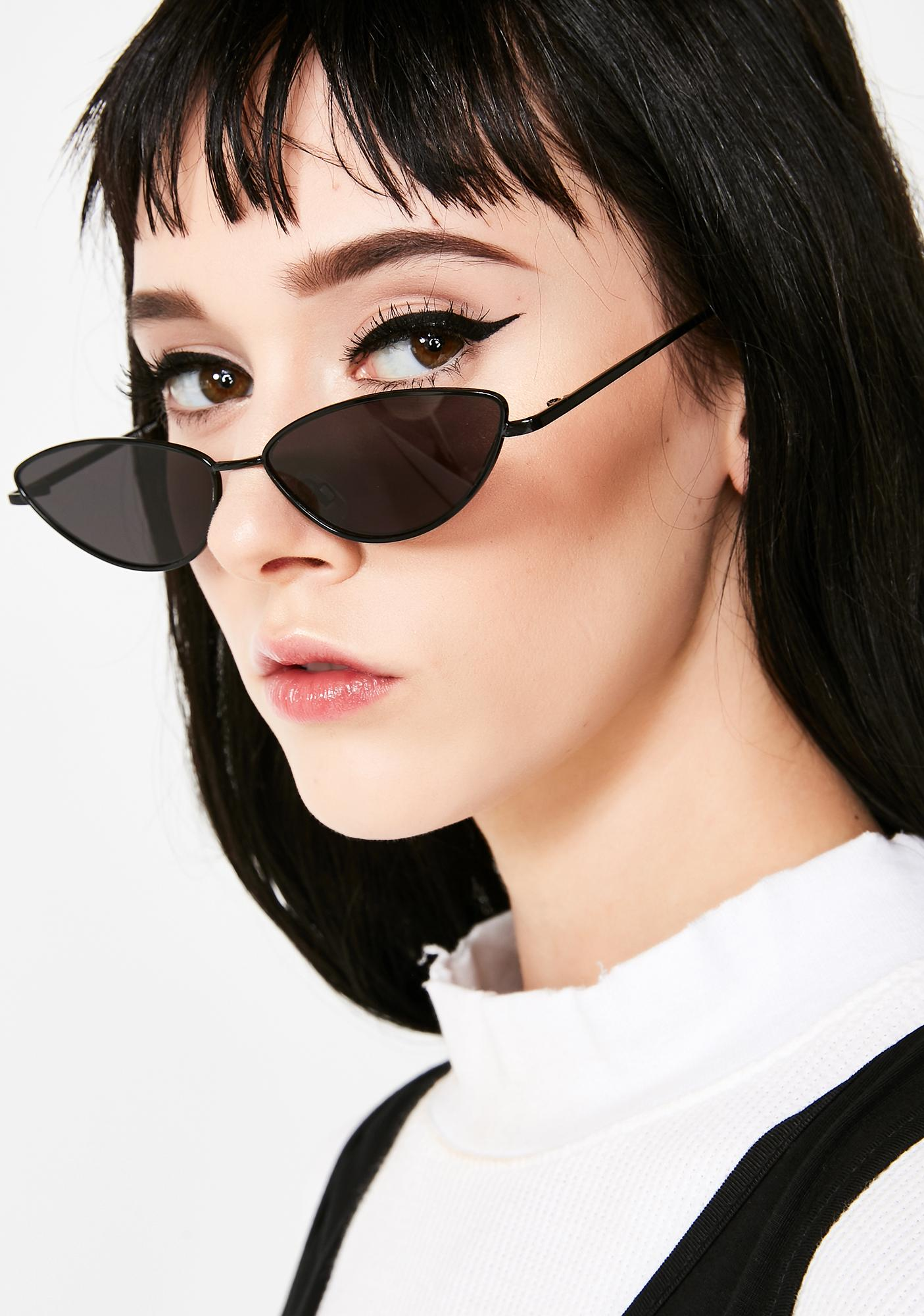 563312ddfc0 Small Metal Cat Eye Sunglasses
