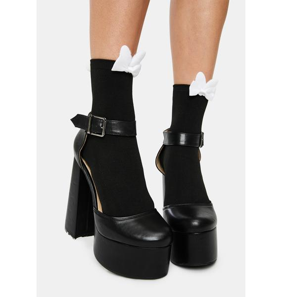 Hop To It Bow Ankle Socks