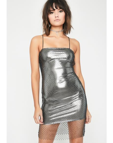 Ice Qween Rhinestone Dress