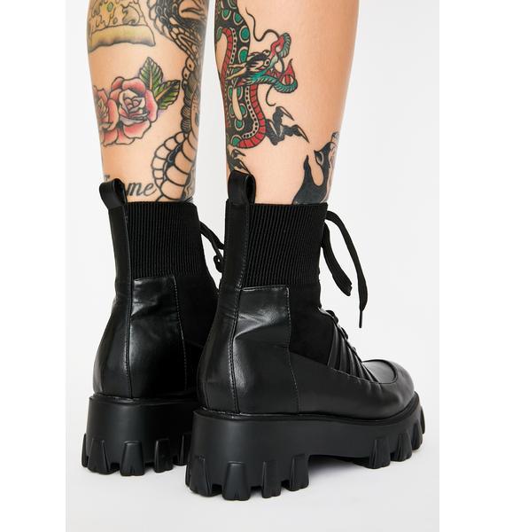 Dark Cyber Army Combat Boots