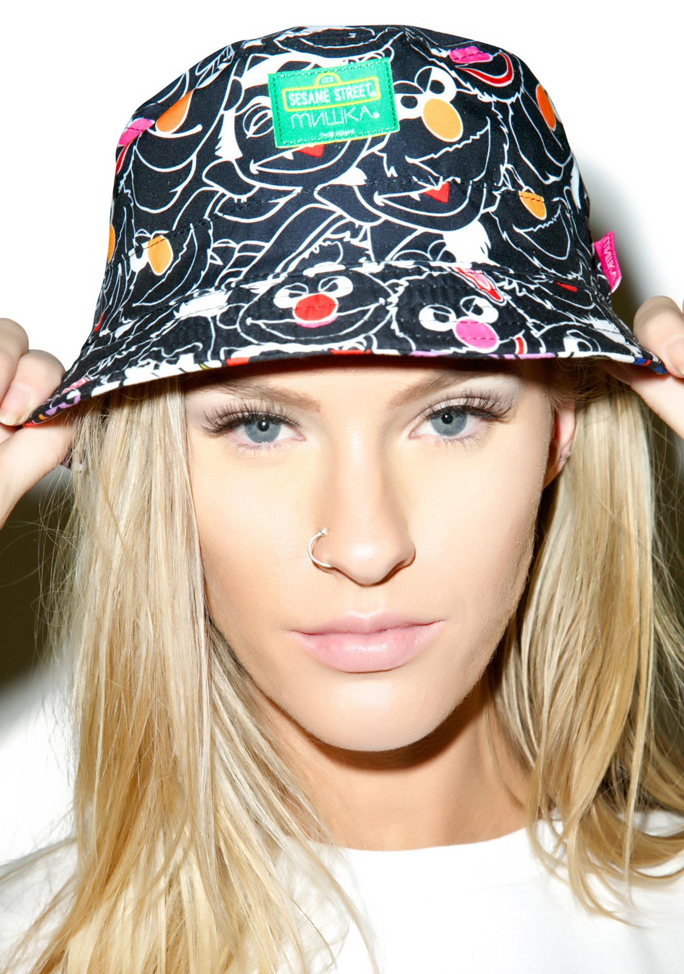 Mishka Sesame Heads Reversible Bucket Hat