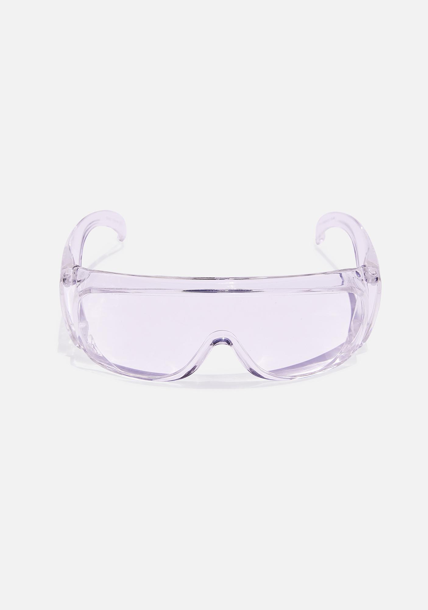Good Times Eyewear Clear Oversized Shield Sunglasses