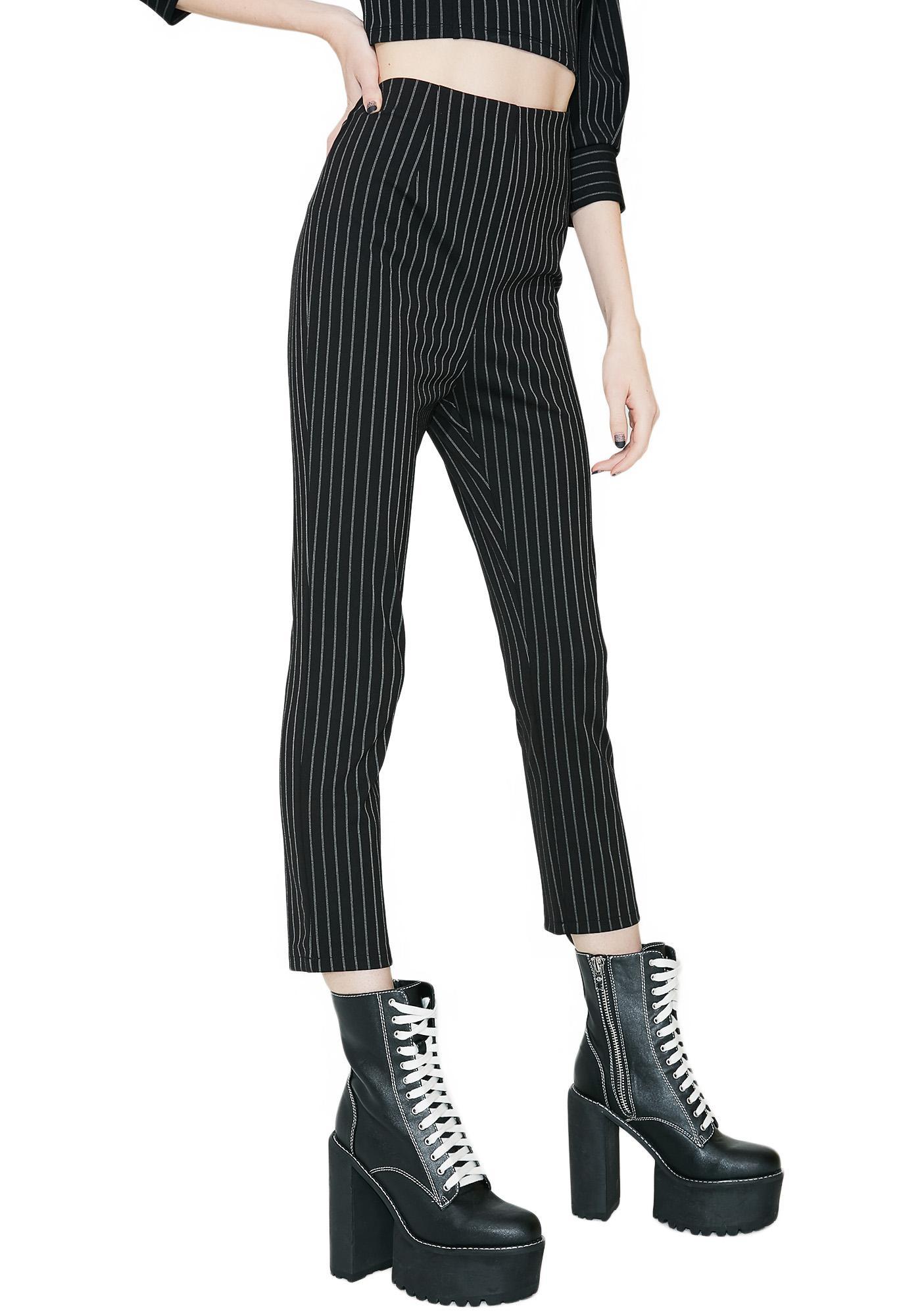 Darker Days Striped Pants