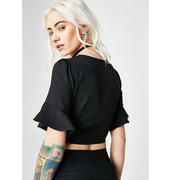 Ain't Picking Roses Crop Blouse