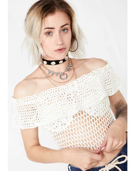 Pure Savage Sweetheart Crochet Top