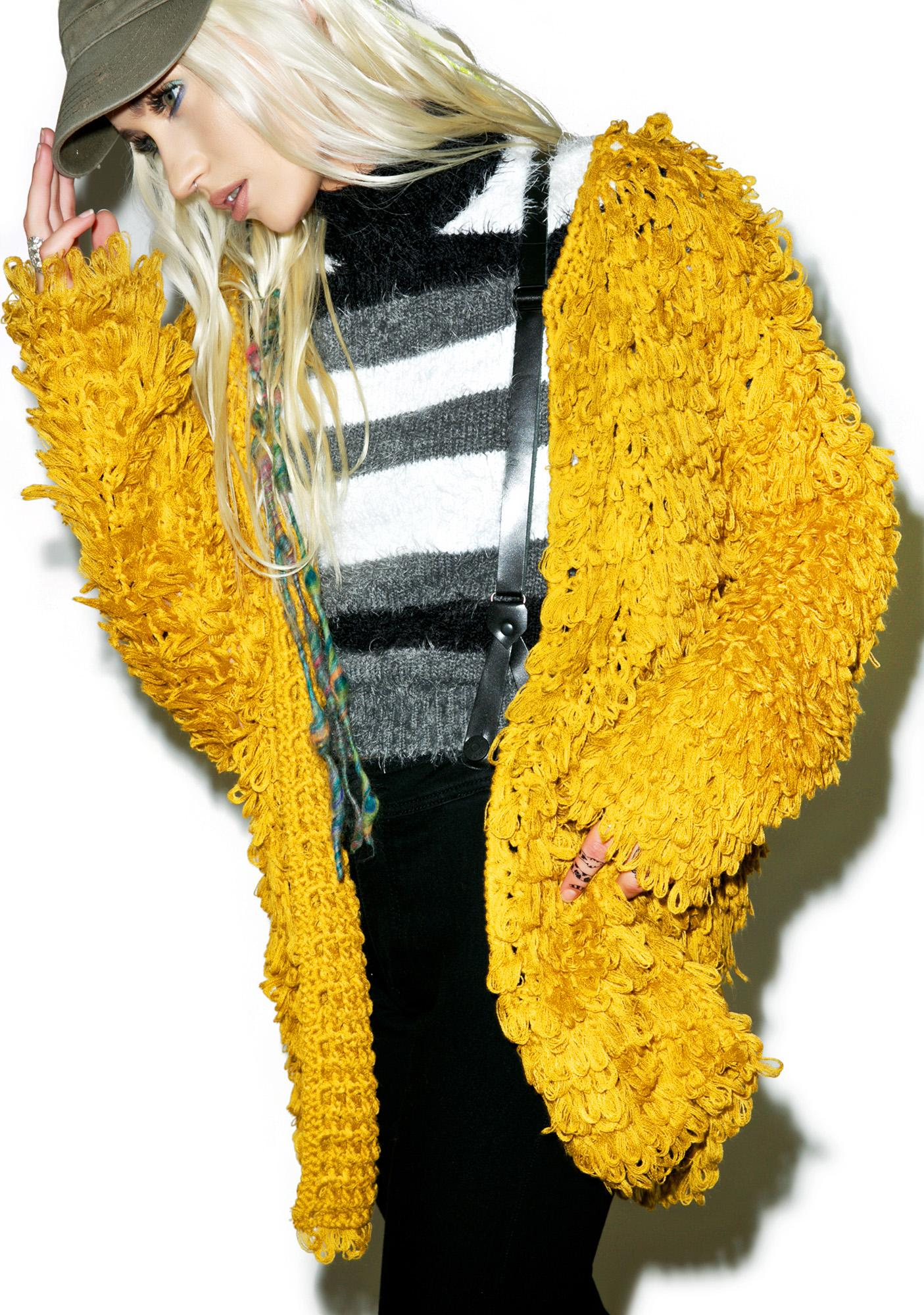 For Love & Lemons Goldenrod Joplin Cardi