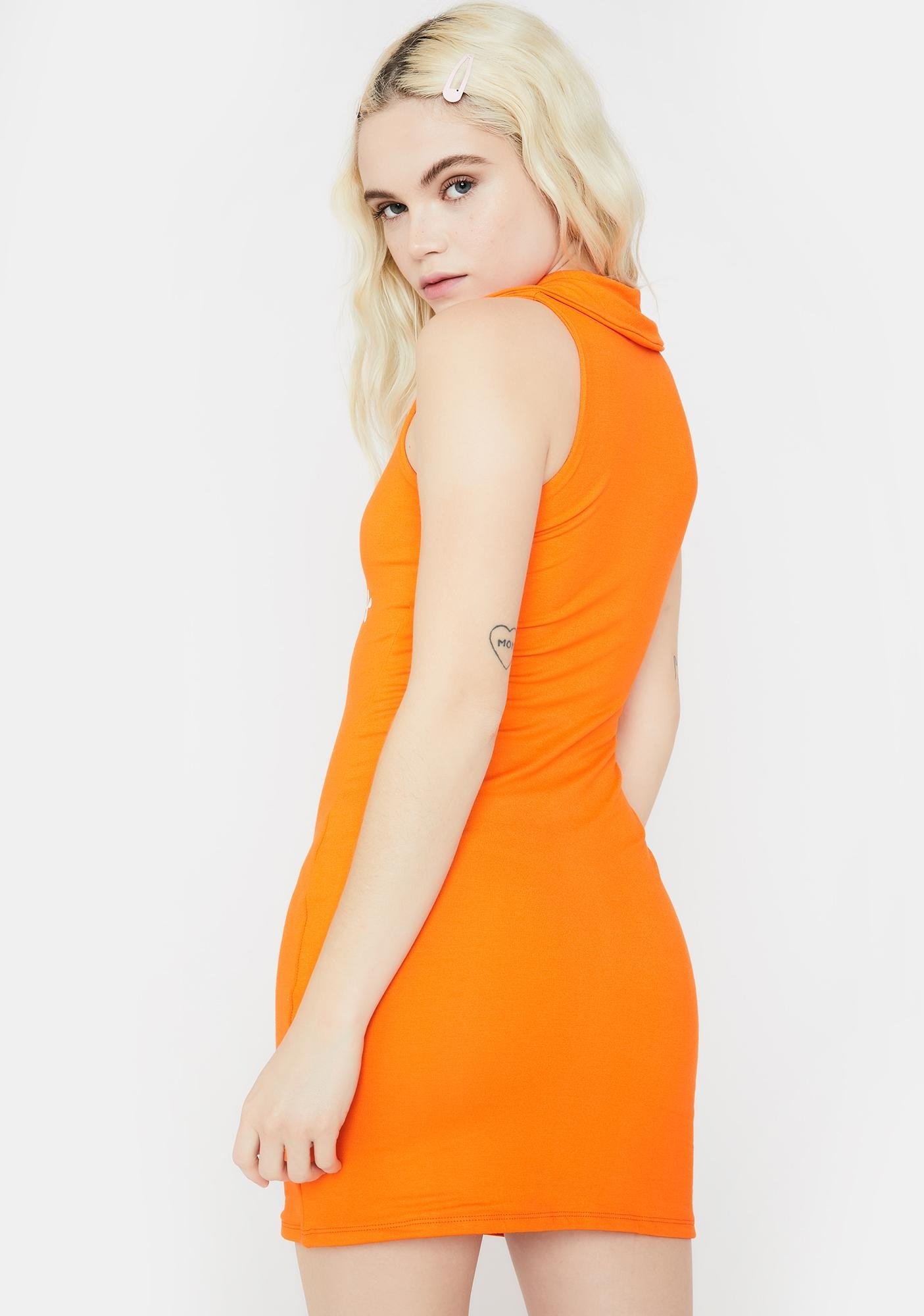 O Mighty Orange Butterfly Mini Dress