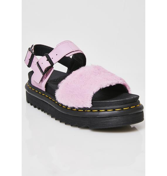 Dr. Martens Voss Fluffy Sandals