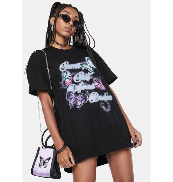 BADEE Oversized Butterfly Graphic Tee