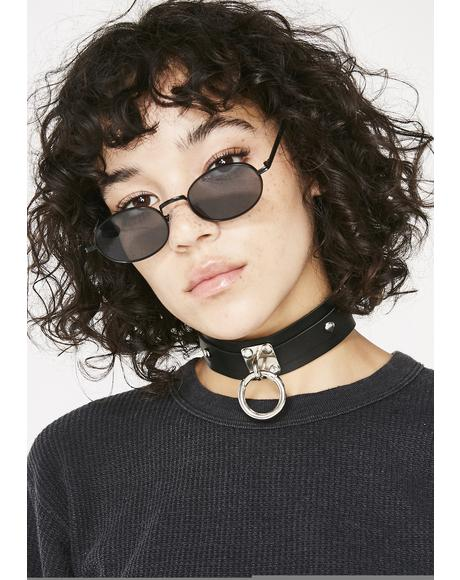 Button Ya Lipz Locket Choker