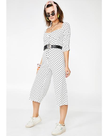 Poised N' Poppin' Wide Leg Jumpsuit
