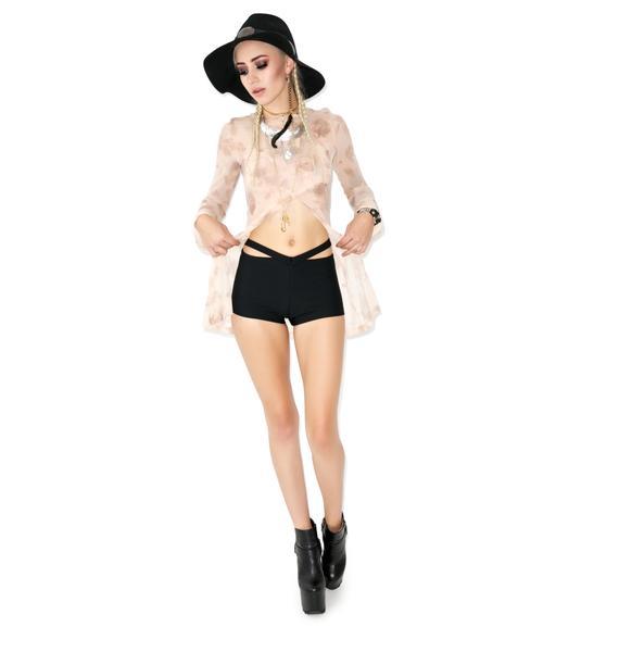 Thong Strap Shorts