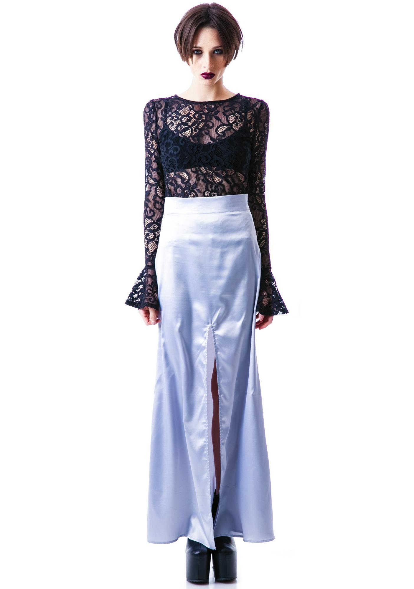 For Love & Lemons On Pointe Maxi Skirt