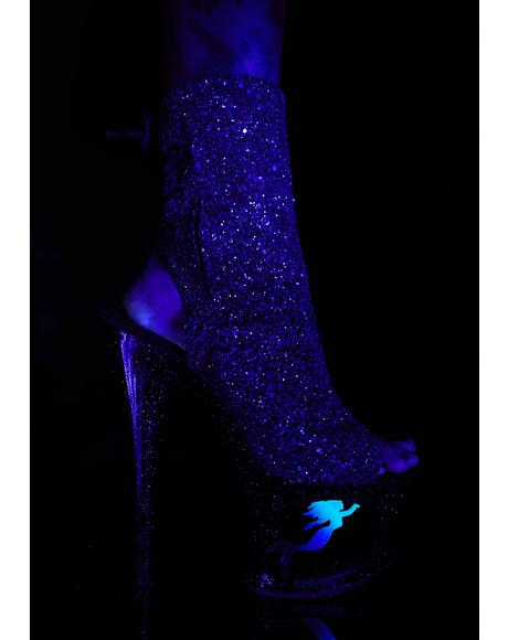 UV Mermaid Platform Heels