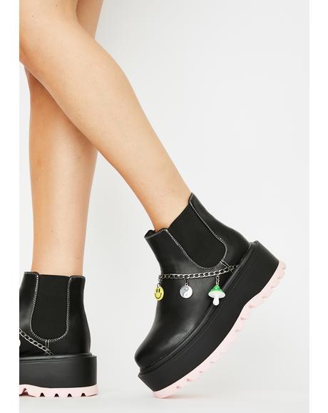 Dark Light Platform Boots