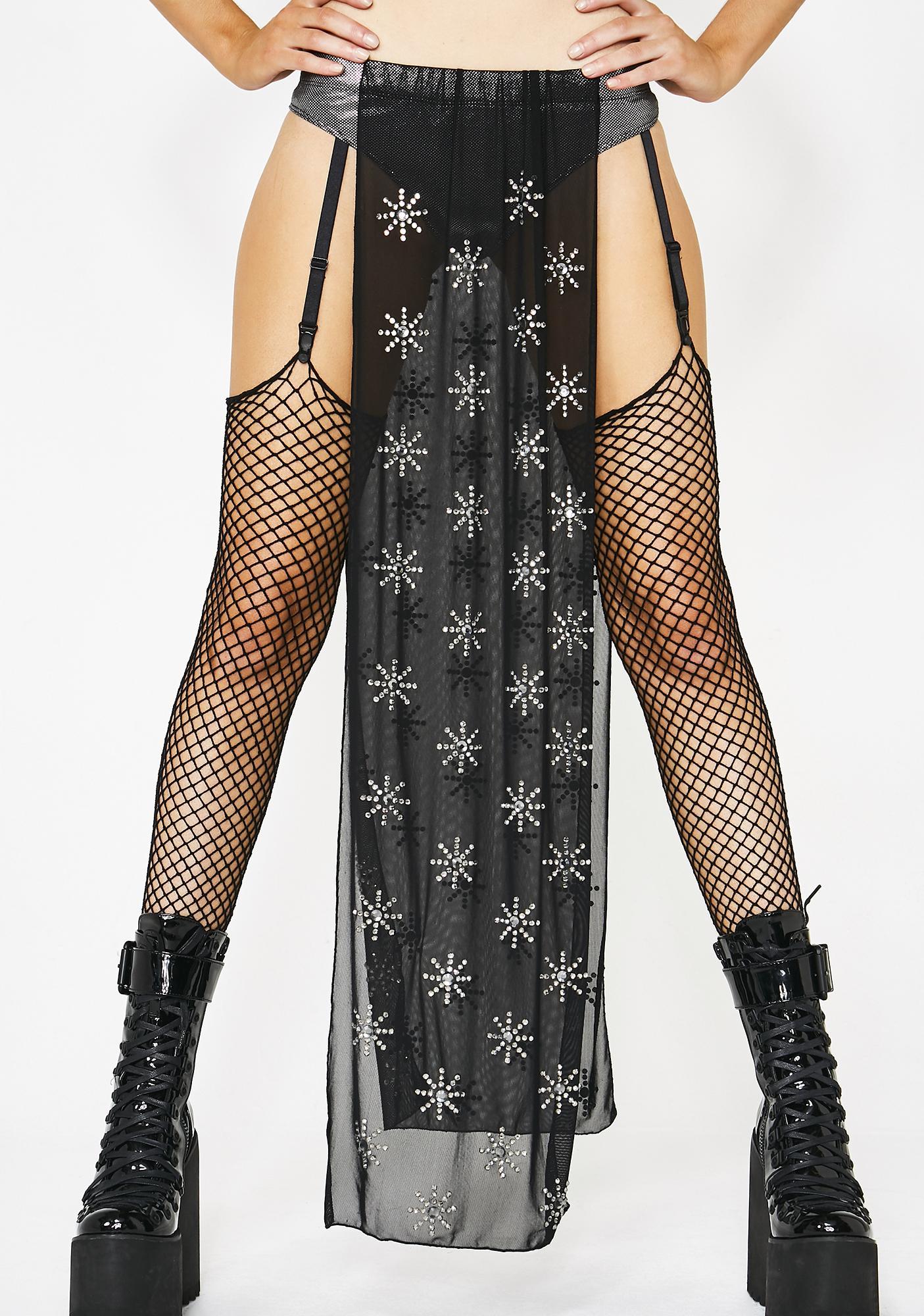 Club Exx Cosmos Grace Mesh Skirt