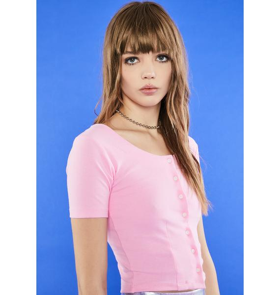 dELiA*s by Dolls Kill As If The Girls Room Button Up Tee