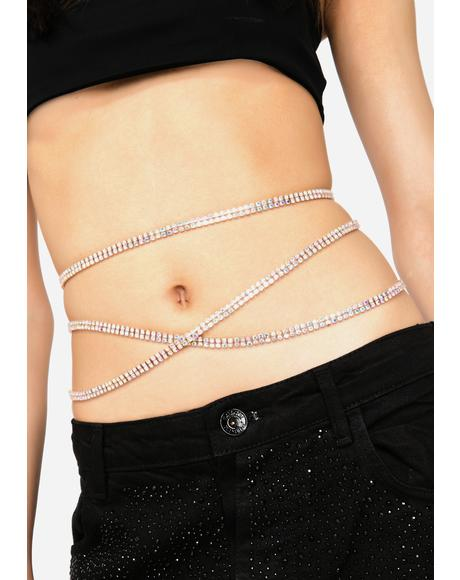Came Thru Drippin Rhinestone Chain Belt