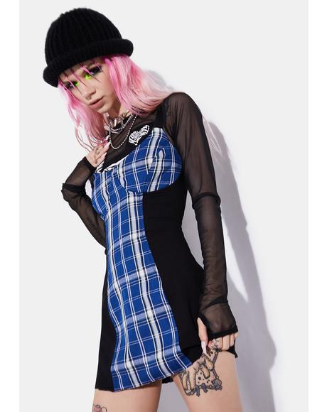 Idol Generation Plaid Corset Dress