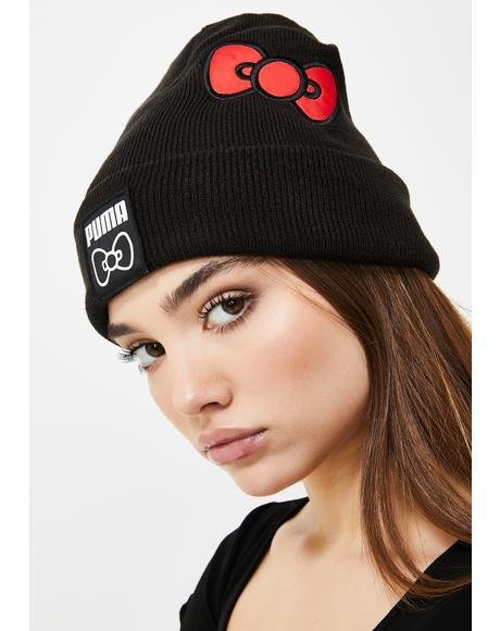 X Hello Kitty Knit Beanie