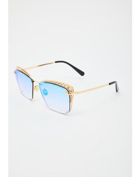 Clear Vision Rectangle Sunglasses