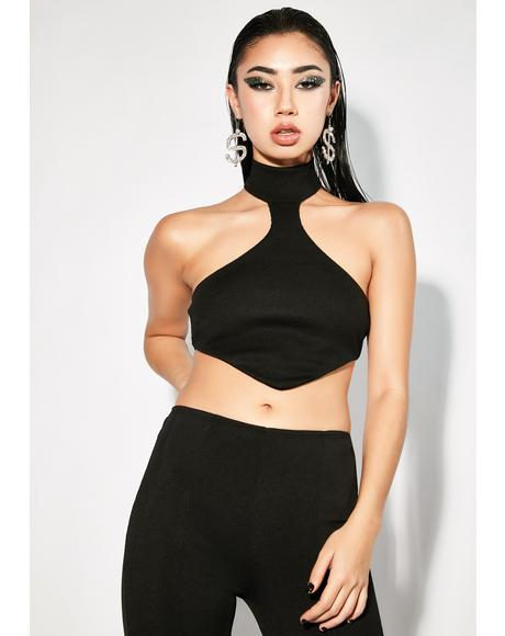 Pulling The Strings Halter Crop Top