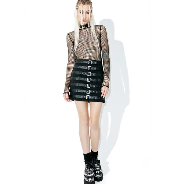 Tripp NYC Buckle Up Skirt