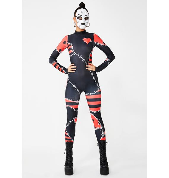 Dolls Kill Damage Revenge Stitched Catsuit