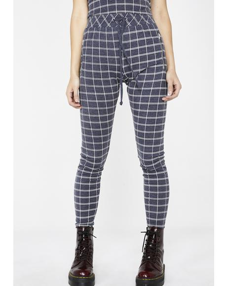 Simple Plaid Demi Leggings