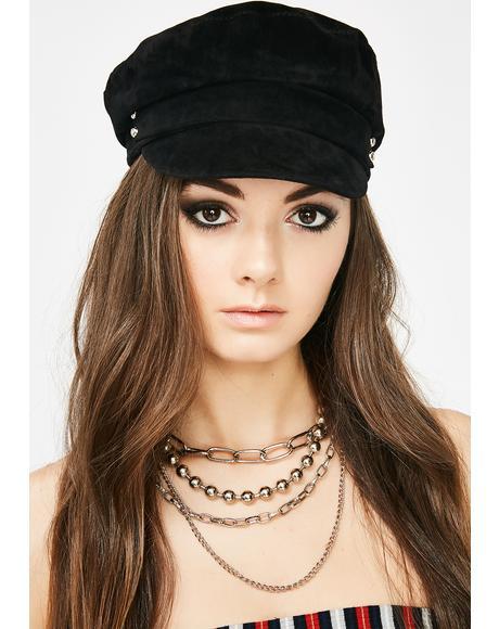 Baker Boy Velvet Hat