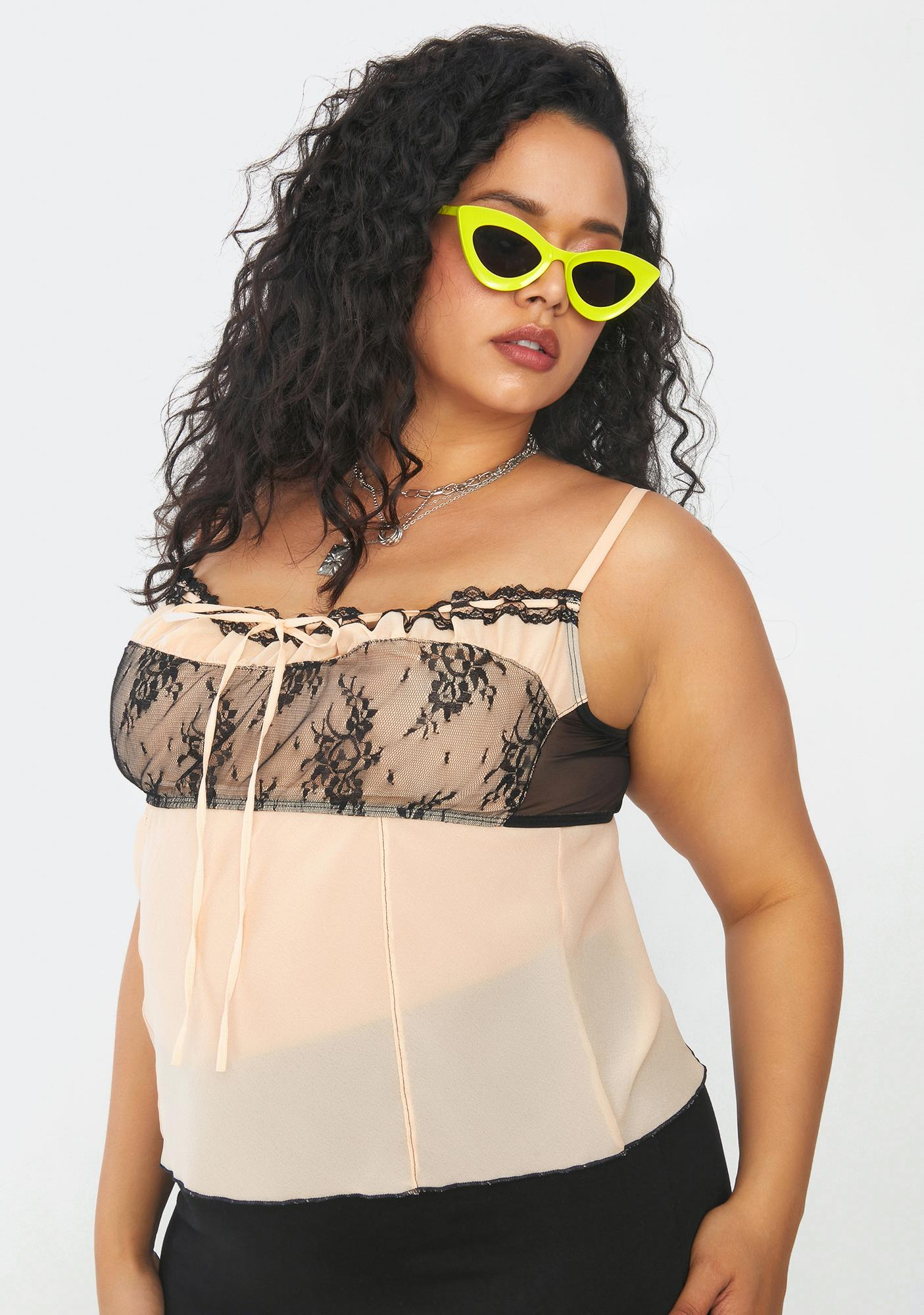 Current Mood We're Forever Young Chiffon Babydoll Cami