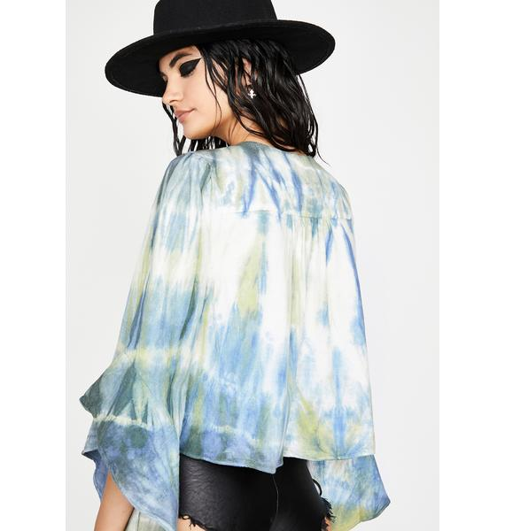 Weeping Willow Tie Dye Blouse